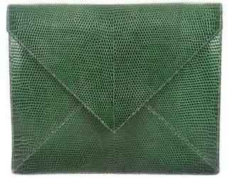 Hermes Vintage Lizard Envelope Clutch with Wallet