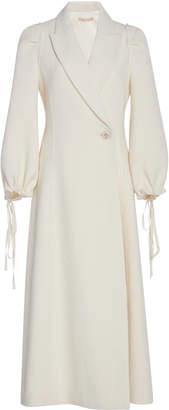 Brock Collection Padova Tie-Sleeve Wool Linen-Blend Jacket