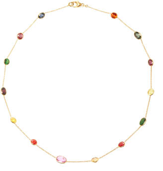 Renee Lewis 18K Gold Multi Colored Sapphire Necklace