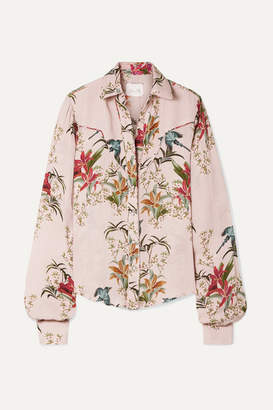 Azalea Johanna Ortiz Printed Silk-georgette Shirt - Pastel pink