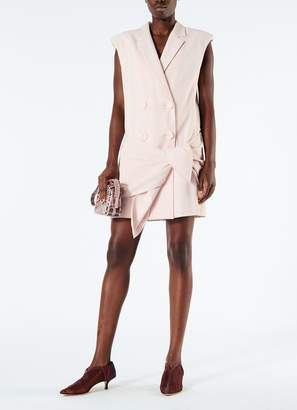 Tibi Linen Viscose Sleeveless Jacket Dress with Removable Tie