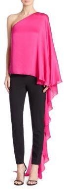 Ralph Lauren Collection Bridget One-Shoulder Mulberry Silk Top $1,650 thestylecure.com