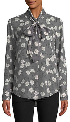 Equipment Luis Floral-Print Silk Blouse