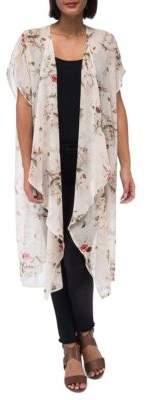 Botanical Long Kimono Cardigan
