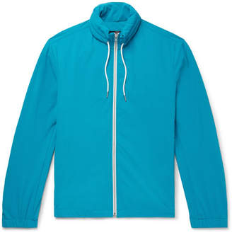 Theory Solomon Stretch-Shell Hooded Track Jacket - Azure