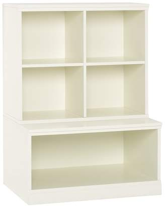 Pottery Barn Kids Cameron Cubby & Open Base Set, Simply White