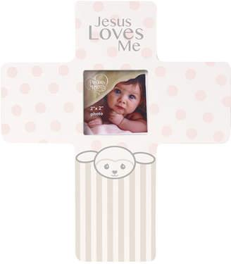 Precious Moments Precious Lamb Jesus Loves Me Cross Photo Frame, Girl
