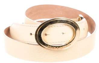 Dolce & Gabbana Leather Buckle Belt Tan Leather Buckle Belt
