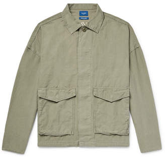 Beams Embroidered Cotton and Linen-Blend Shirt Jacket