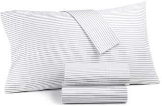 Charter Club Damask Designs Printed Pinstripe Extra Deep King 4-pc Sheet Set, 550 Thread Count