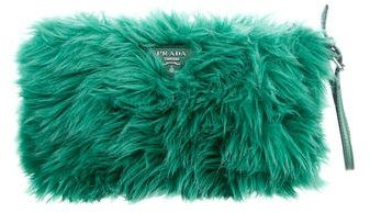 prada Prada Faux Fur Clutch