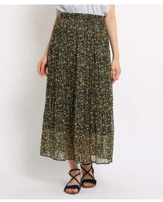 Dessin (デッサン) - Ladies [WEB限定][洗える][ウエストゴム]フラワープリントプリーツスカート