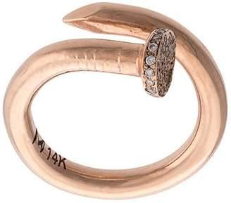 M. Cohen 14kt gold nail ring