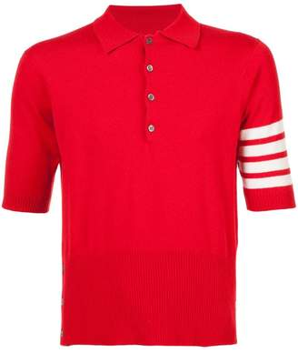 Thom Browne cashmere short sleeve polo shirt