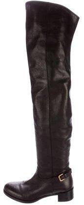 pradaPrada Leather Thigh-High Boots
