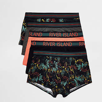 River Island Green floral print hipsters multipack