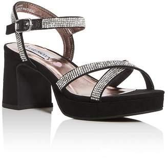 Steve Madden Girls' JClassy Embellished Block-Heel Platform Sandals - Little Kid, Big Kid