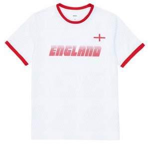 Burton Mens White England Print T-Shirt