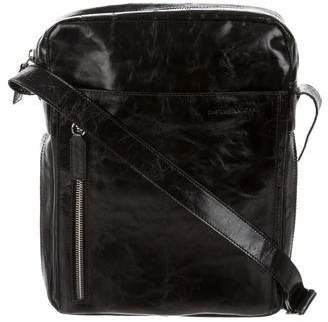 CNC Costume National Distressed Leather Crossbody Bag