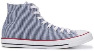 Converse pinstripe hi-top sneakers