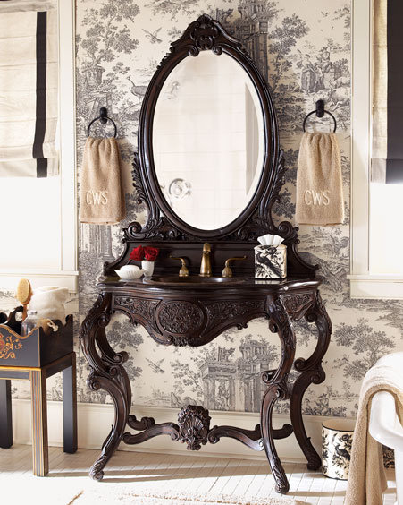 Scrolled Vanity with Sink