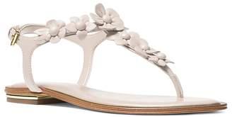 MICHAEL Michael Kors Women's Tricia Leather Thong Sandals