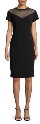 Eliza J Chevron Illusion Sheath Dress