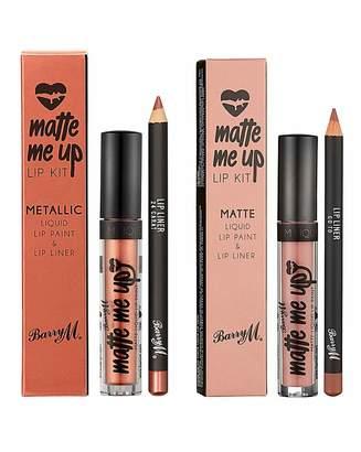 Barry M Barry Matte & Metallic Lip Kits