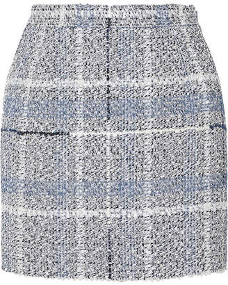 Alessandra Rich - Metallic Tweed Mini Skirt - Light blue
