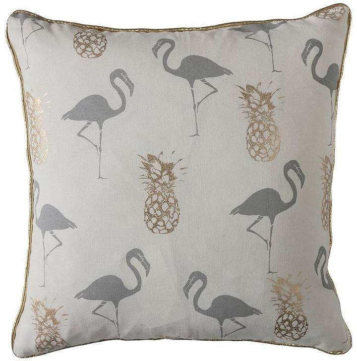Flamingo And Pineapples Cushion