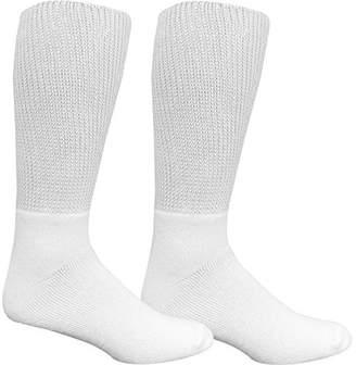 Dr. Scholl's Men's 2 Pack Wide Leg Crew Socks