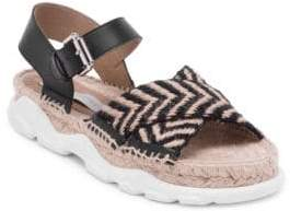 Stella McCartney Ochre Sporty Jute Sandals