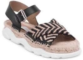 Stella McCartney Ochre Sporty Jute Sandals