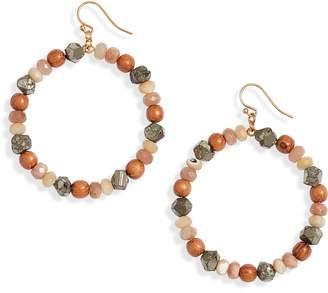 Chan Luu Stone Hoop Earrings