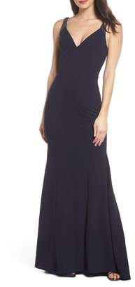 LuLu*s Embellished Strap Trumpet Gown