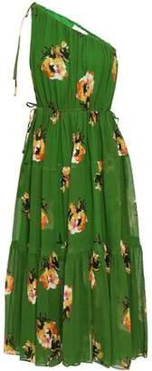 299d7ac19c25 A.L.C. One-shoulder Floral-print Silk-georgette Midi Dress