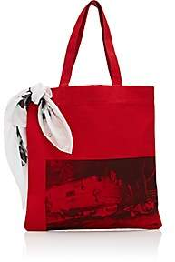 Calvin Klein Men's Canvas Tote Bag-Red