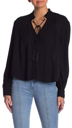 Kensie Grace Crepe Embroidered Blouse