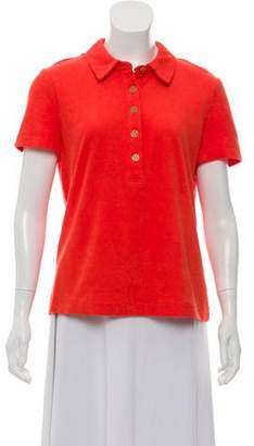 Tory Burch Terry Cloth Short Sleeve Top