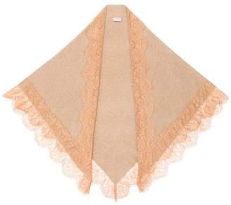 Twin-Set lace hem scarf