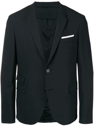 Neil Barrett three button blazer