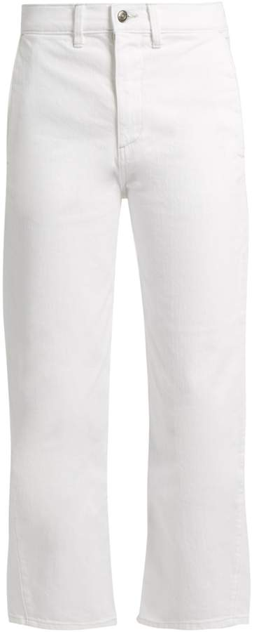 VINCE High-rise straight-leg cropped jeans