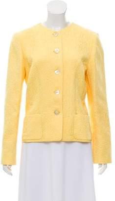 Oscar de la Renta Jacquard Button-Up Jacket