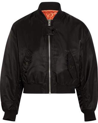 Maje Schott Shell Bomber Jacket - Black