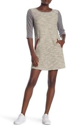 THML Contrast Trim Knit Dress