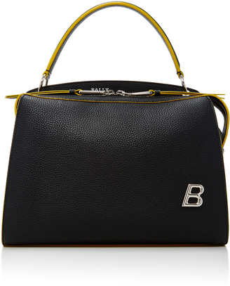 Bally Textured-Leather Shoulder Bag $1,395 thestylecure.com