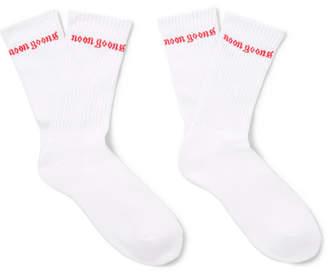 Noon Goons Logo-Intarsia Stretch-Knit Socks