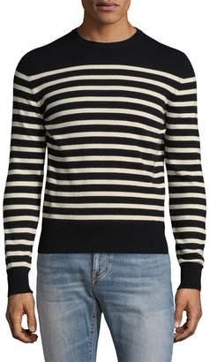 Saint Laurent Paris Wool Stripe Pullover