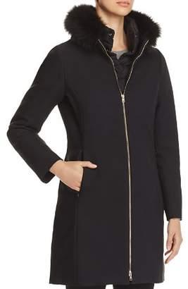 Herno Fur Trim Slim Fit Long Coat