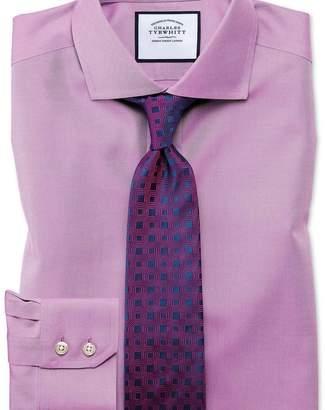 Charles Tyrwhitt Slim fit cutaway collar non-iron twill violet shirt